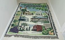Pleasanton CA California Town Decorative Afghan Throw Blanket Historic Places