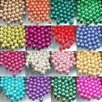 Runde GLASPERLEN in gemischten Pastellfarben - 4mm, 6mm, 8mm, 10mm ,12mm,14mm