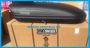 Box baule auto shuttle box tetto viaggio carbox portapacchi menabo 400 lt nero