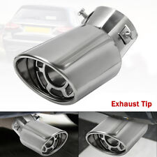 Titanium Black Muffler Tip Exhaust Pipes Slip-on Tailpipes Steel muffler Finishers For 09-16 A3 A4 Q3 Q5 2.0T