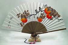Hand Painted Folding Korean Paper Traditional Bamboo Hand Fan Art Decorative Fan