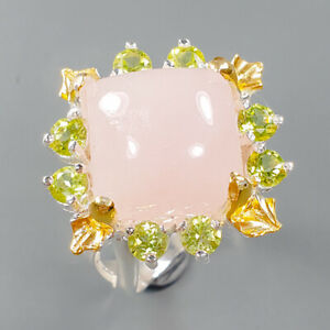 Very Sweet classic design Morganite Ring Silver 925 Sterling  Size 7.5 /R162174