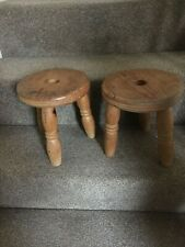 Pair of old wooden stools. Excellent condition.