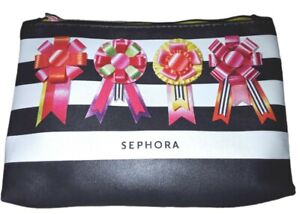 SEPHORA Makeup Bag Cosmetic Case Black with FREE Items inside !!!
