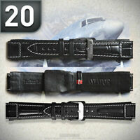AVIATOR Lederarmband PILOT- FLIEGERUHREN Uhrenarmband Uhrenband gebürstet 20mm