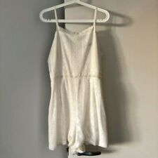 Sportsgirl Lace Playsuit, White, Size L, Lovely, Almost new condition!