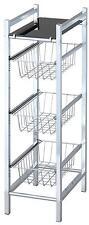 étagère de cuisine noir 547-20 étagère armoire dépôt verre 3 étages