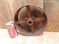 """Antique Hit & Miss Gas Steam Engine Line Shaft Flat Belt Pulley 9.5"""" x 3.25"""""""