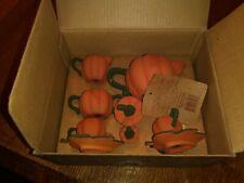 Boyds Bearware Pottery Works Tea Set 2002 Punkinbeary Pumpkin Terra Cotta 9 Pc