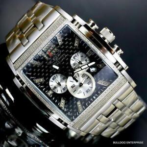 Invicta Speedway The Beast 1.47 CTW Diamond Stainless Steel Black 47mm Watch New