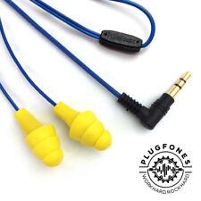 PLUGFONES YELLOW - Headphones That Work As Ear Plugs 3.5mm Jack - FREE UK P&P!