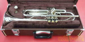 YAMAHA YTR-3320S Silver Plated Trumpet with Hard Case / from Japan