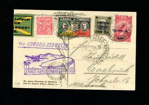 Zeppelin Brazil Sieger 139A 1932 1t South America Flight Brazil Post on Zep Card