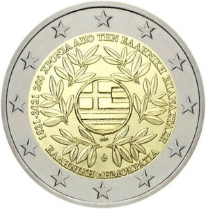 GREECE 2 EURO 2021 BICENTENARY (200 YEARS) OF THE 1821 GREEK REVOLUTION G443