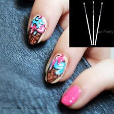 3pcs Nail Art Brush Set for Acrylic Colors Pigment Paint Pen Manicure Tools