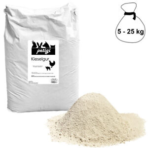 Kieselgur 5 - 25 kg Diatomeenerde Hygiene im Stall und Silo Petigi
