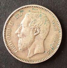 Belgique - Léopold II - Très Jolie monnaie de 1 Franc  1886/6 FR