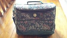 Vintage Luggage Carry On Bag  Samsonite Flower Tapestry