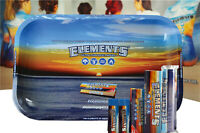 ELEMENTS ROLLING PAPER COMBO TRAY+PAPERS+TIPS+ROLLING MACHINE