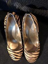 """Shoes, BCBGenration, leopard round toe pumps, 4"""" wedge, SZ: 6 1/2M"""