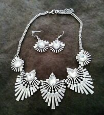 Silver necklace and earring sets