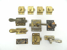 Antique & Vintage Lot Used Metal Brass Drawer Door Lock Handles Mechanisms Parts