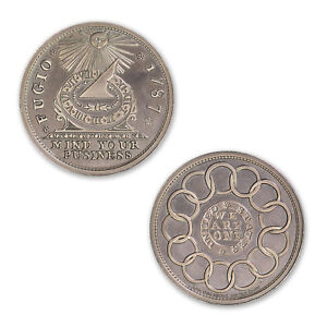 Colonial Currency Series The Fugio Cent 2 oz Silver Round Antiqued Bullion Coin