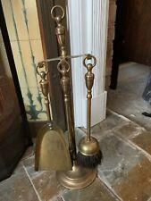Solid Brass Fireside Companion Set