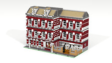 Lego modular School MOC PDF instructions (tags: building, build, city, creator)