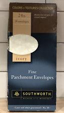 New listing Southworth Fine Parchment Envelopes Sz10 Ivory Láser 24Ct P984-10 Vtg 24Only