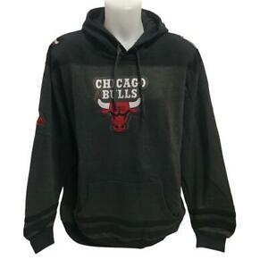 NBA Men's New Chicago Bulls Hoody Sweatshirt 2X Gray/Black Hoodie Red Logo