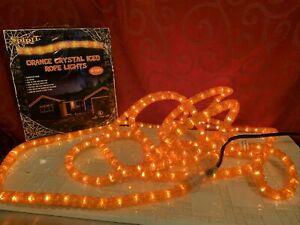 SPIRIT Halloween 18 Feet ORANGE CRYSTAL ICED ROPE LIGHT Indoor/Outdoor PARTY