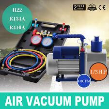 4.8CFM Pompe à vide Mono-étage Vacuum Pump R410A R134A 250ML Climatisation