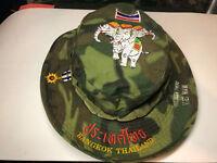 Boonie Hat Vietnam /Thailand Tropical Camo 1968 Tag International Co. Stitched