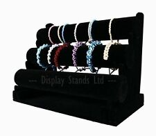 3 Tiers Black Velvet Jewellery/ Bangle Bracelet Watch Display Stand