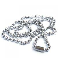 Rostfrei Edelstahl Perle Metallperlen Halskette Kette C4Q5