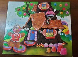 Candy Land Puzzle 24 Pieces Milton Bradley 1982 15x12 Gingerbread House Complete
