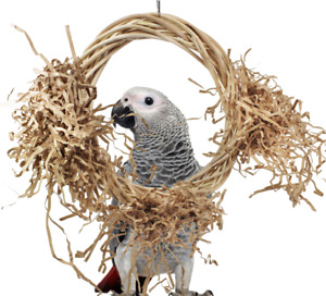 1461 Medium Willow Perch Swing Bird Toy Cage Parrot Toys Cages Amazon Conure