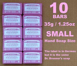 Dr Bronner's Cherry Blossom Pure Castile Soap Small Bar 35g 1.25oz (Pack of 10)