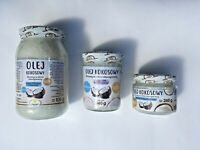 Coconut Oil, Extra VIRGIN, 100% Organic, pure, Raw cold-pressed Olej Kokosowy***