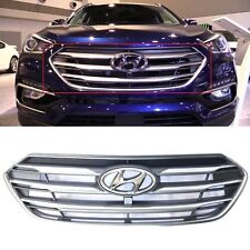 New Santa Fe Sport 2017-2018 Front Bumper Upper Grille OEM With Camera Hole
