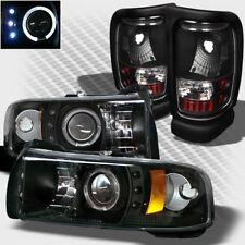 For 1994-2001 Dodge Ram Halo LED Pro Headlights+Tail Lamp Head Lights Set Pair