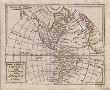 1768 Scarce Original Colour Akerman Map of America