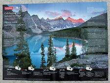 Canadian Geographic 2011 Poster; 100 Years of National Parks Canada; 1911 - 2011