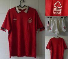 1988-1900 Nottingham Forest FC Short Sleeve Adidas Home Football Shirt + Shorts