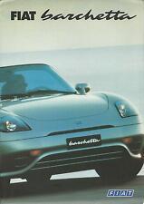 FIAT BARCHETTA UK mercato BROCHURE / PIEGHEVOLE POSTER luglio 1997 # 13M. luglio 97. A1202