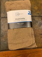 MAINSTAYS 18 Pack Assorted Cotton Terry Thin Washcloths Rags BWWGB