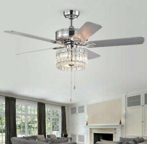 "SAFAVIEH Lighting 52"" Dresher Ceiling Fan w/ Light + Remote CLF1006A ""FreeShip"""