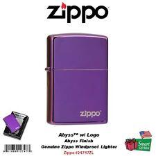Zippo Abyss with Logo Lighter, High Polish, Deep Purple, Windproof #24747ZL