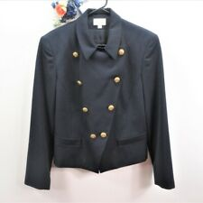 Vintage Nautical Blazer Womens Size 10 Christy Hall 100% Wool